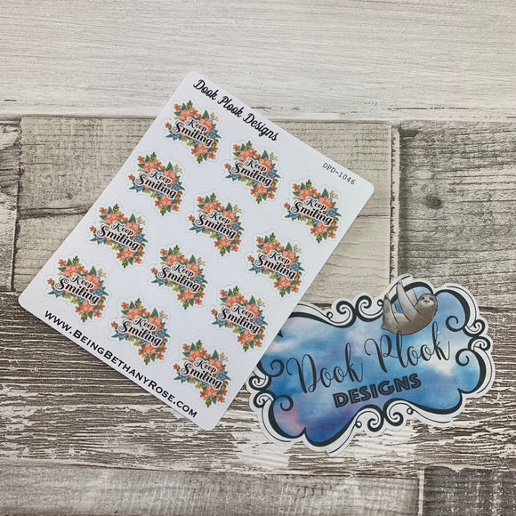 Keep smiling stickers (DPD1046)