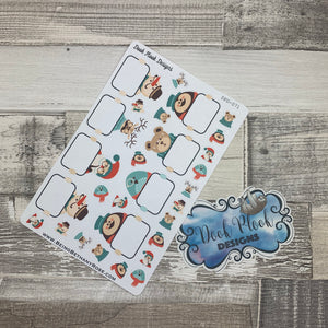 Hipster Christmas stickers  (DPD071)