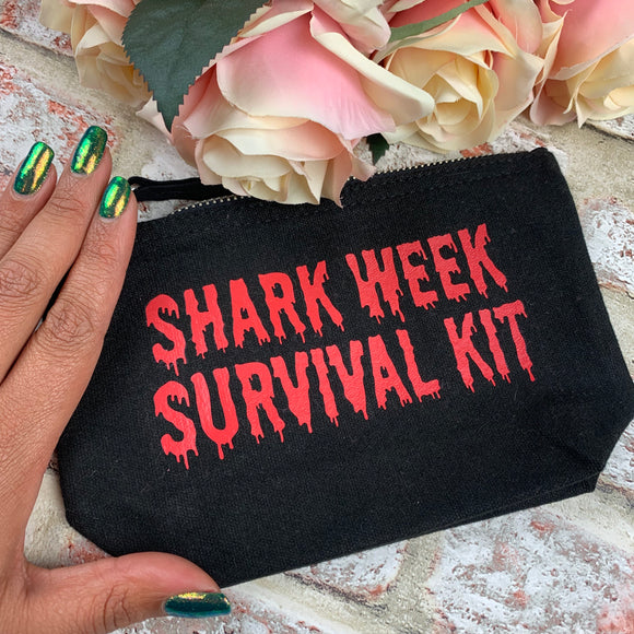 Shark week survival kit (Drip) - Tampon, pad, sanitary bag / Period Pouch