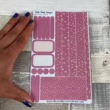 (0079) Passion Planner Daily stickers - Pink