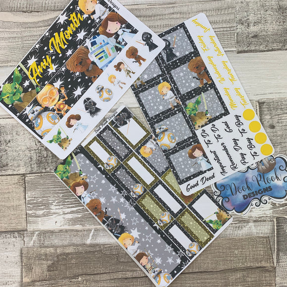 May the force be with you Monthly View Kit (can change month) for the Erin Condren Planners
