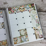 Watercolour Animal (can change month) Monthly View Kit for the Erin Condren Planners