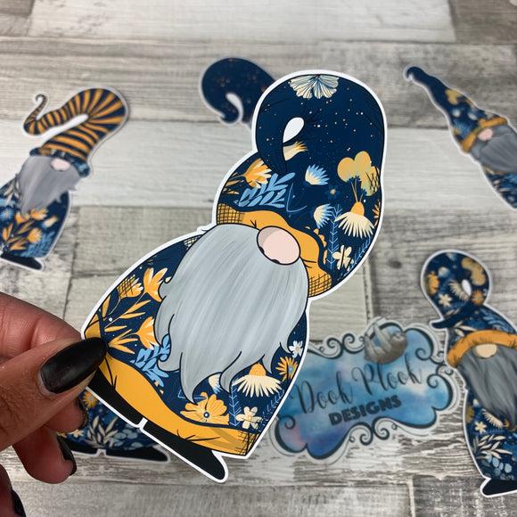 Blue Floral Gonk  Die cut (Gnorman)