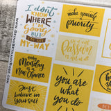 Postives Quotes in Yellow box sticker (DPD1346)
