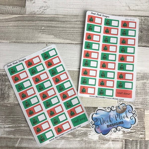 Christmas Blank 52 Week Money Challenge stickers (DPD901)