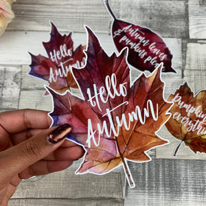 Hello Autumn Die cut