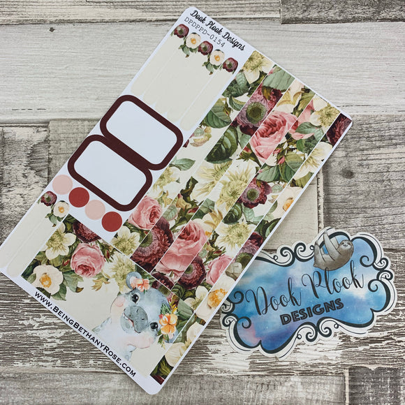 (0154) Passion Planner Daily stickers - Watercolour Hippo