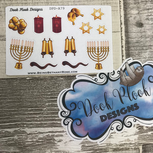 Chanukah / Hanukkah stickers - Small Sampler Size (A79)