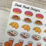 Breakfast items stickers (DPD898)