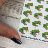 Frog stickers for Erin Condren, Plum Paper, Filofax, Kikki K (DPD637)