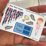 Marathon Runner / Run / Race stickers (Small Sampler Size) A747