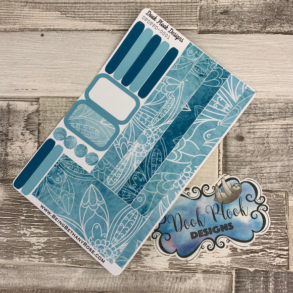 Passion Planner Daily stickers - Blue reflections (DPDPPD-0011)