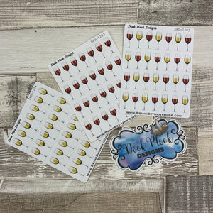 Red and White wine stickers (DPD1202-1204)