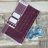 (0074) Passion Planner Daily stickers - Raindrop Purple