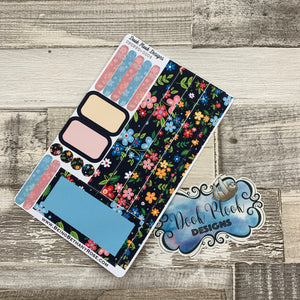 (0004) Passion Planner Daily stickers - Black floral
