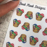 Laundry basket stickers (DPD756)