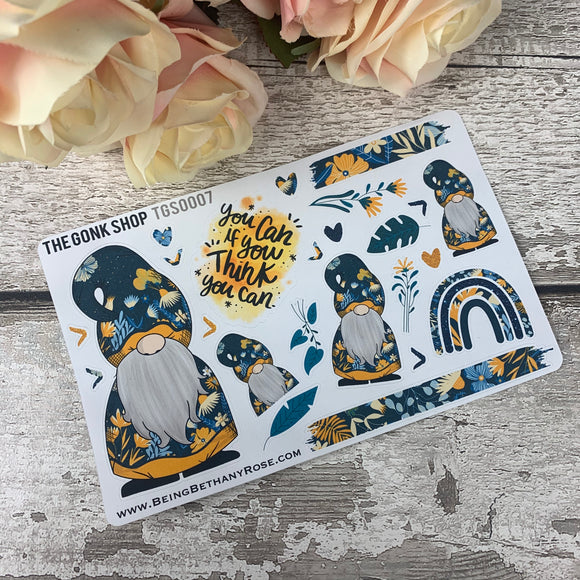 Blue Floral Gonk (Main) Stickers (TGS0007)