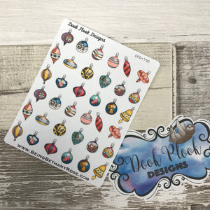 Christmas bauble stickers (DPD790)