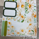(0139) Passion Planner Daily stickers - Water colour Daisy