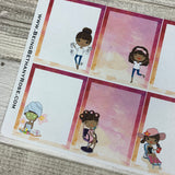 Mixed character Black Woman Full Box Stickers (DPD1408)