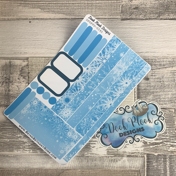 (0245) Passion Planner Daily stickers - Snowflake
