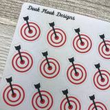 Target stickers for Erin Condren, Plum Paper, Filofax, Kikki K (DPD276)