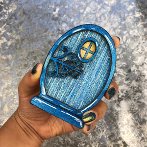 Blue sparkly Fairy Door