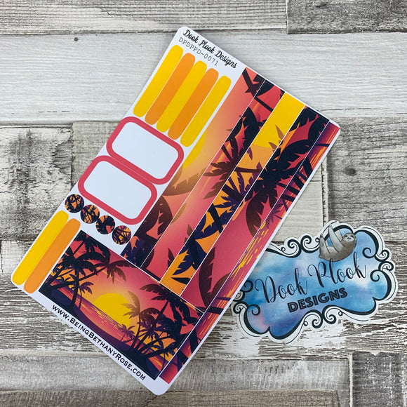 (0071) Passion Planner Daily stickers - Sunset Tropic