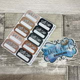 Selfcare boxes stickers Nude colour (DPD1666)