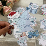 Yeti (Tree) Die cut