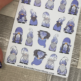 Lavender Gonk Character Stickers (DPD-2027)