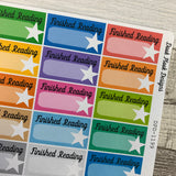 Book review / books tracker stickers (DPD-1199)
