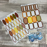 Autumn boxes and oval stickers (DPD 1487)