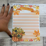 Erin Condren Month Dashboard Note Pages (Autumn / Fall)