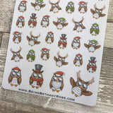 Christmas owl stickers (DPD1162)