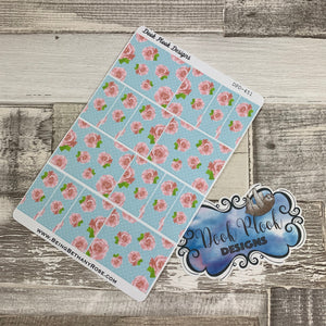 Shabby chic flower box stickers for Erin Condren (DPD451)