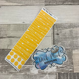 Passion Planner Hour Cover up / Washi strip stickers (Yellow DPDW-1)