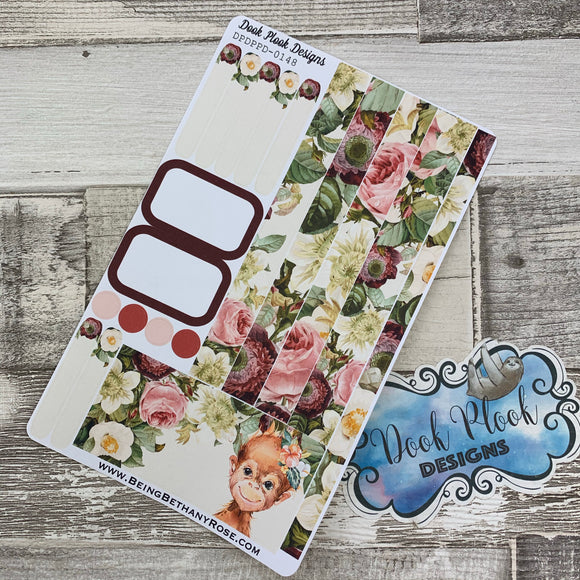 (0148) Passion Planner Daily stickers - Monkey Watercolour