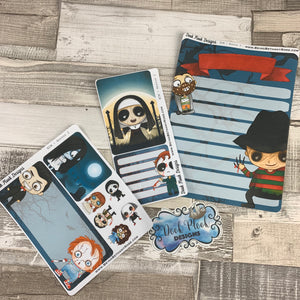 Erin Condren Month Dashboard Note Pages (Horror)