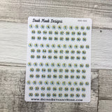Globe date dots(2 sizes) stickers (DPD1349)