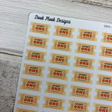 Ticket stickers (DPD864)