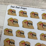Slater the Sloth popcorn Stickers  (DPD-1242)