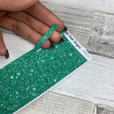 Passion Planner Hour Cover up / Washi strip stickers (Green Glitter DPDW-15)