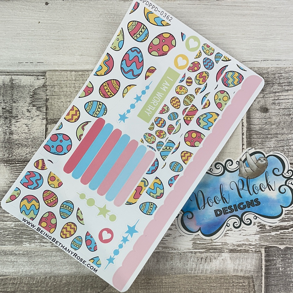 (0362) Passion Planner Daily Wave stickers - Easter Eggs