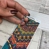 Passion Planner Hour Cover up / Washi strip stickers (Tribal print DPDW-26)