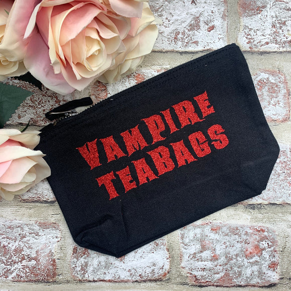 Vampire Teabags (red glitter) - Tampon, pad, sanitary bag / Period Pouch