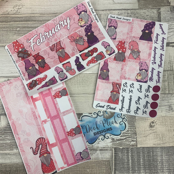 Valentines Gonk Monthly View Kit (can change month) for the Erin Condren Planners