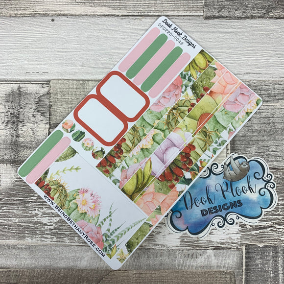 Passion Planner Daily stickers - Pastel succulents (DPDPPD-0048)