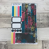 (0040) Passion Planner Daily stickers - Neon Flowers