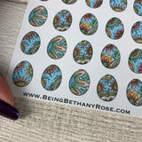 Patterned Easter egg stickers (DPD1607)